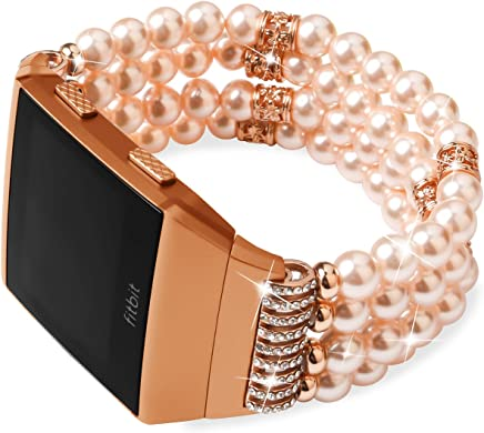 featured product for Fitbit Ionic Bands, eGenPlus Rhinestone Bracelet for Women Men, Replacement Strap Fitness Wrist Band for Fitbit Ionic Smart Watch Accessory, More Colors