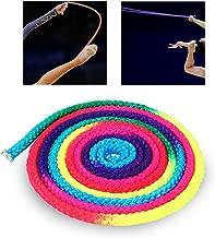 Zyyini Gymnastics Sports Rope, Rainbow Color Rhythmic Gymnastics Rope 2.8 Meter Suitable for Daily Use Sports Training