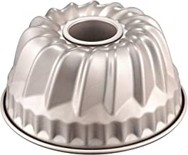 Chef Made 1 f CHEFMADE 7-Inch Bundt Cake Pan, Non-Stick Carbon Steel Kugelhopf Mold, FDA Approved for Oven Baking (Champagne Gold), Round 7 Inch