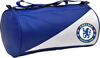 5 O' CLOCK SPORTS Chelsea Leather Duffle Gym Bag for Men and Women for Fitness - Bag Size 49cm x 24cm x 24cm - Color Blue