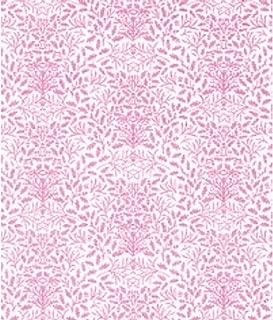 Melody Jane Dollhouse William Morris Design Acorns Miniature Print 1:24 Wallpaper Pink