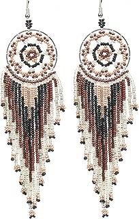 Dream Catcher Bead Earrings Dangle for Women