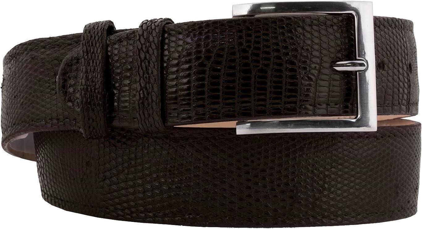 El Deluxe Presidente - Sales of SALE items from new works Men's Brown Lizard Skin Leather Belt Cowboy Real