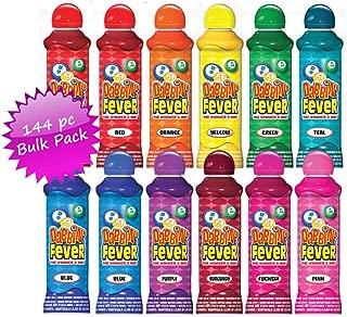 Dabbin' Fever Bingo Daubers Bulk Case - 144 Daubers (12 Dozen) Assorted Colors, 3oz