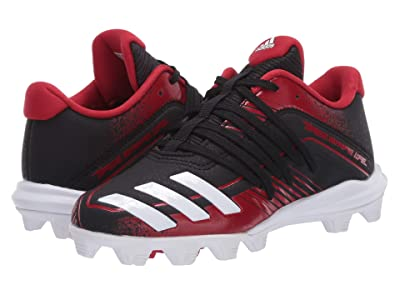adidas Kids Afterburner 6 MD K Baseball (Toddler/Little Kid/Big Kid) (Black/White/Power Red) Kids Shoes