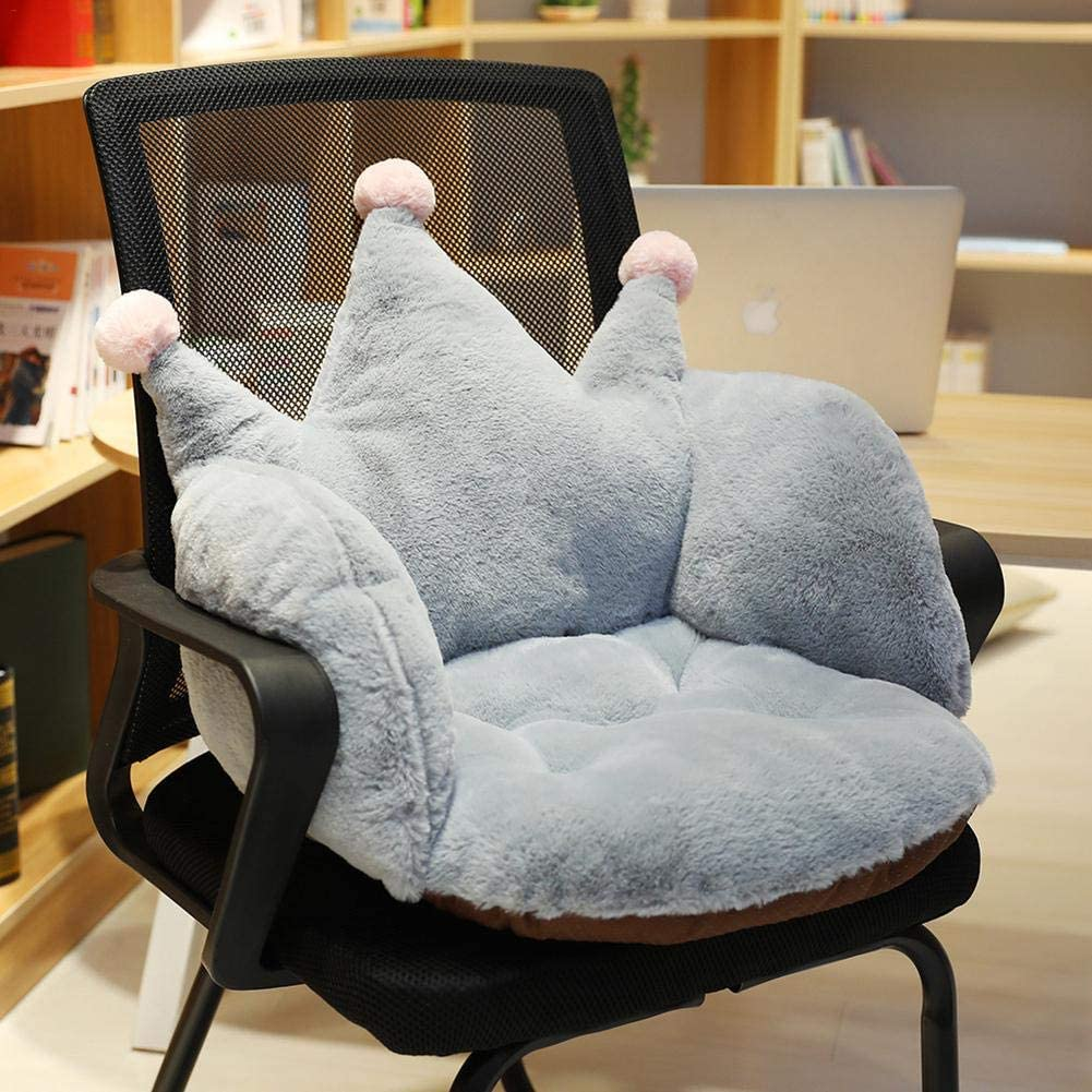 Breathability Plush Crown Seat Cushion Hammock Cushions Armchair Hanging Chair Pad Fur Crown Cushion for Home Office Available in three colors