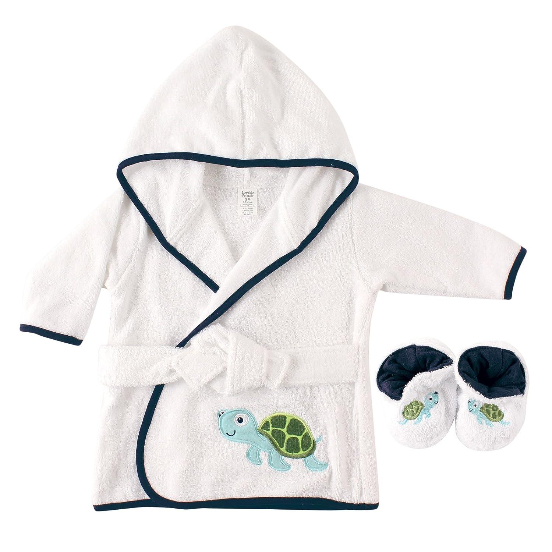 Luvable Friends Unisex Baby Cotton Terry Bathrobe, Turtle, One Size