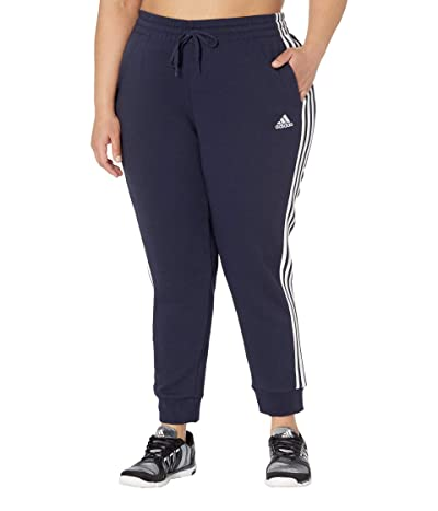 adidas Plus Size 3-Stripes French Terry Cropped Pants Women