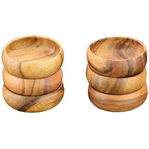 4  Diameter by 1.5  Round Dip and Nut Bowls, Set of 6 pcs