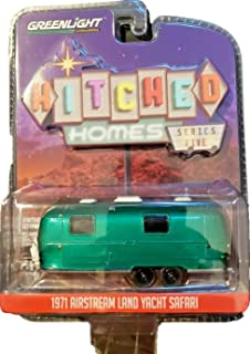 Greenlight Rare Chase Green Machine 34050-D Hitched Homes Series 5-1971 Airstream Double-Axle Land Yacht Safari 1:64 Scale