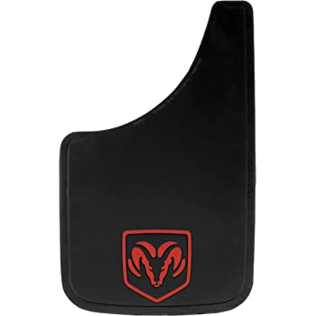Plasticolor 00582R01 9x15 Mud Guards with Red RAM Head Logo Pair