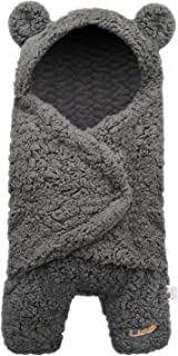 BlueSnail Newborn Receiving Blanket Baby Sleeping Wrap Swaddle (Gray)