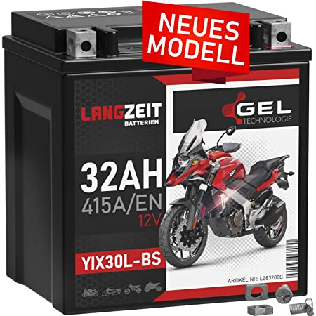 Banner Blei Gel Motorrad Batterie Harley Ytz30l Bs Gt30 3 30ah 12v 53001 Rasentraktor Auto