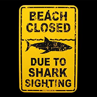 SW Beach Closed Due to Shark Sighting Sign