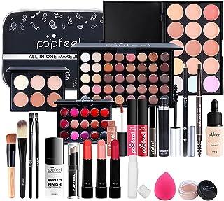 Sponsored Ad – Travel Makeup Kit Set for Women Full Kit, All in One Makeup Organiser Storage with Sponge Brush Foudation L...