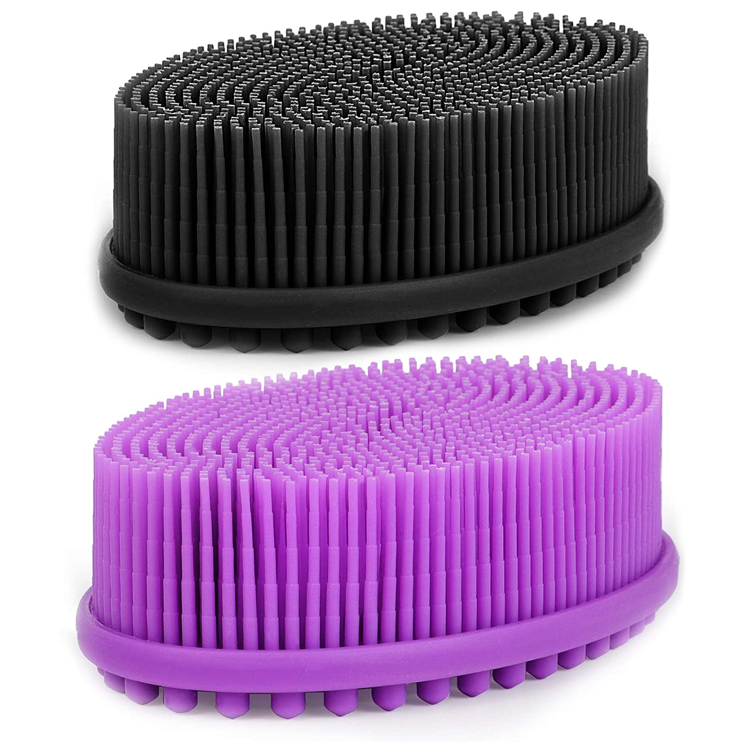 New product type HEETA 2-Pack Body Brush for Wet Bath and National products Brushing Silicone Dry