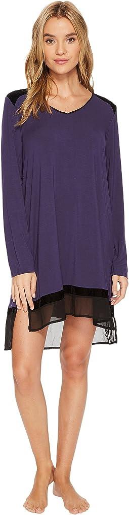 DKNY - Modal Spandex Jersey Long Sleeve Sleepshirt