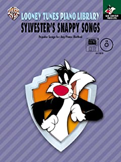 Looney Tunes Piano Library: Primer -- Sylvester's Snappy Songs, Book, CD & General MIDI Disk