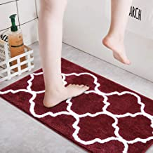 "HEBE Microfiber Bathroom Rug 18""x26"" Mat Non Slip Absorbent Bath Mat for Bathroom Soft Fluffy Shaggy Carpet Bath Rug for D..."