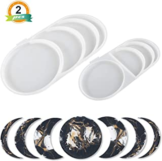 LET'S RESIN Moon Phase Resin Molds with Crescent Silicone Molds, Full Moon Epoxy Molds, Young MoonSilicone Molds for Resin Crafts DIY, Making Decoration