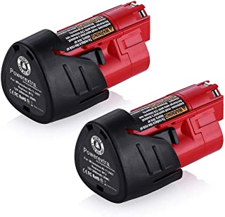 Powerextra 2 Pack 12V 3000mAh Lithium-ion Replacement Battery Compatible with Milwaukee..