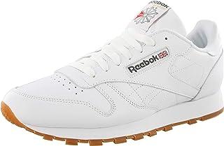 Reebok Men's Classic Leather Fashion Sneaker (42-43 M EU / 9.5 D(M) US, White-Gum)