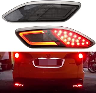 iJDMTOY JDM Fluid Style Dark Tinted Lens LED Bumper Reflector Lamps For 2016-up Honda HR-V, Function as Tail, Brake & Rear Fog Lights