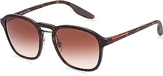 Prada Unisex Square Sunglasses - Brown, PS02SSU616S155