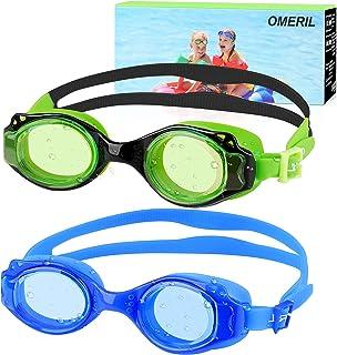 OMERIL Kids Swim Goggles, 2 Pack Swimming Goggles Anti...