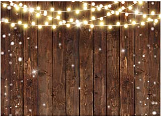 Funnytree 7x5FT Rustic Glitter Wood Photography Backdrop for Wedding Party Banner Birthday Bridal Shower Background Photo Booth