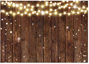 Funnytree 7x5FT Rustic Glitter Wood Photography Backdrop for Wedding Party Banner Birthday Bridal Shower Friendsgiving Background Photo Booth