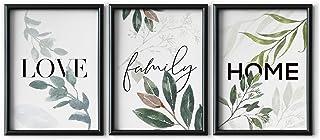 comprar comparacion DONLETRA® Set de 3 Láminas Decorativas Nórdicas de LOVE/FAMILY/HOME para Enmarcar - A3 A4 - Decoración de Pared - Cuadros ...