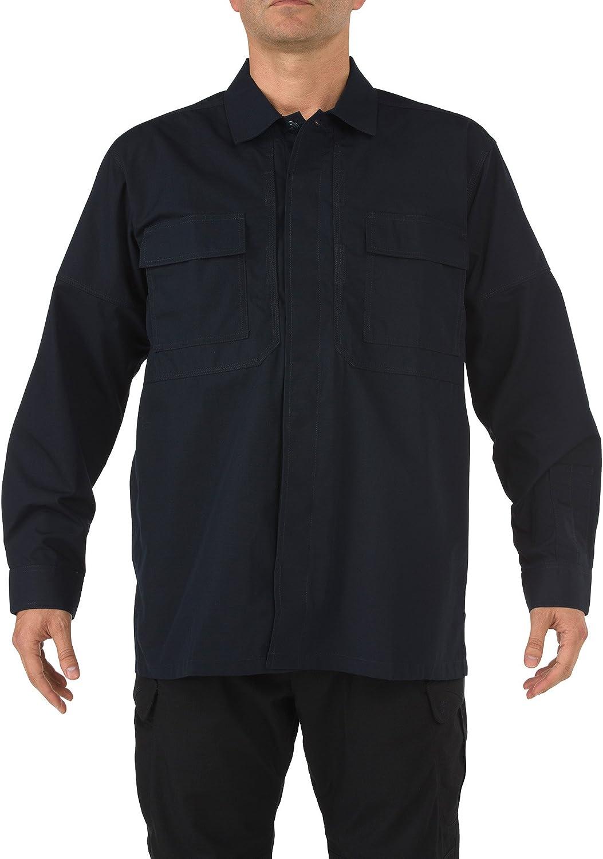 Men's Tactical 5.11 Tdu Ripstop Long Sleeve Shirt Black 6Xl Reg