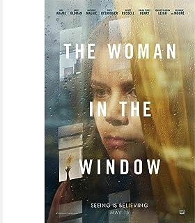 WEUEWQ affisch Kvinnan i fönstret Filmaffisch Konstdekor Inomhusmålning Present Heminredning -60x80cmx1 Ingen ram