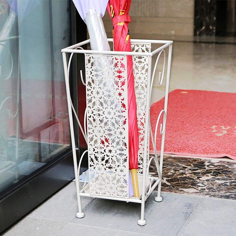 Umbrella Stand Umbrella Rack Iron Art Umbrella Shelf Hotel Umbrella Bucket Lobby Rain Gear Storage Rack (color   B)