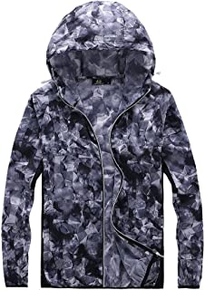 Thin Breathable Sun Protection Clothing Gray Skin Female Summer Blue Long Fashion Coat Waterproof Jacket Cloth (Color : Gray, Size : XXXL)