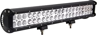 Senlips 126W 20inch Cree Bar Waterproof Spot&Flood Combo Off Road ATV Jeep Jetta Mk4 Truck Led Lights Driving Lamp with Mounting Bracket for Car Vehicle Accessories