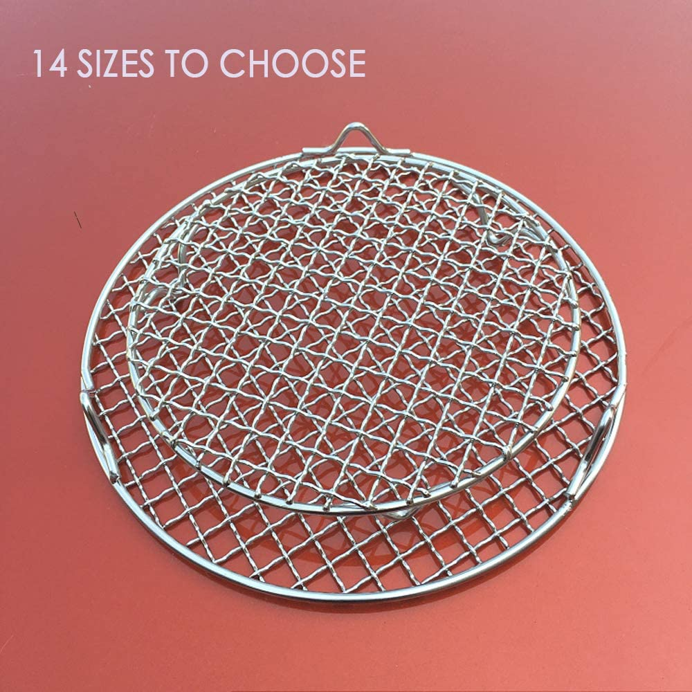 Turbokey Wire Baking Rack for Airfryer//Oven//Sheet Pan with Legs Dia 9.8 Multi-Purpose Round Cooling Cooking Rack Stainless Steel Barbecue Rack //Carbon Baking Net //Grill //Pan Grate 250mm//9.8
