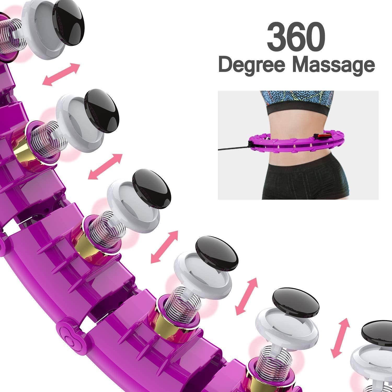 Fitness Nicht F/ällt Einstellbar Fitnessreifen Mit Massagenoppe F/ür Kinder Erwachsene Anf/ängermit Gymnastikreifen Zum Abnehmen CYSJX 24 Segmente Intelligent Hula Hoop Auto-Spinning Hoop