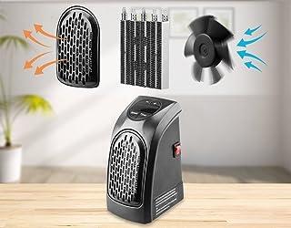 Takestop® - Estufa ovalada eléctrica de 400W, calentamiento rápido, portátil, enchufe toma eléctrica regulable de 15° a 32°, bajo consumo, para baño, casa y oficina