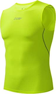 Bpbtti Men's Sleeveless Cycling Base Layer Bike Undershirt,Breathable,Superlight and Moisture Wicking