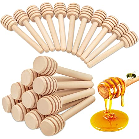 Honey Dipper Sticks Durable Practical Wooden Jam Dippers for Jar Container HC