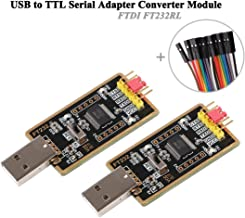 MakerFocus 2pcs USB to TTL Serial Adapter Converter Module FTDI FT232 UART FT232RL Compatible with Windows 7,8,10,Wince,Linux,Mac