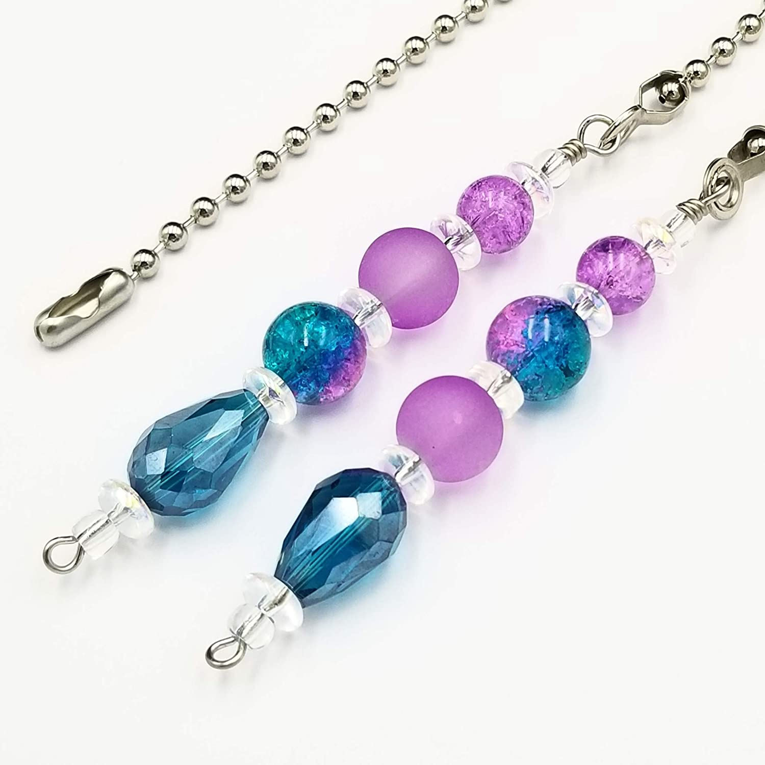 Ceiling Fan and Light Latest item Pull Chain Teal a Set Purple Max 46% OFF - Crackle