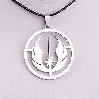Star Wars - Collana con ciondolo a forma di simbolo Jedi Ordine in acciaio inox