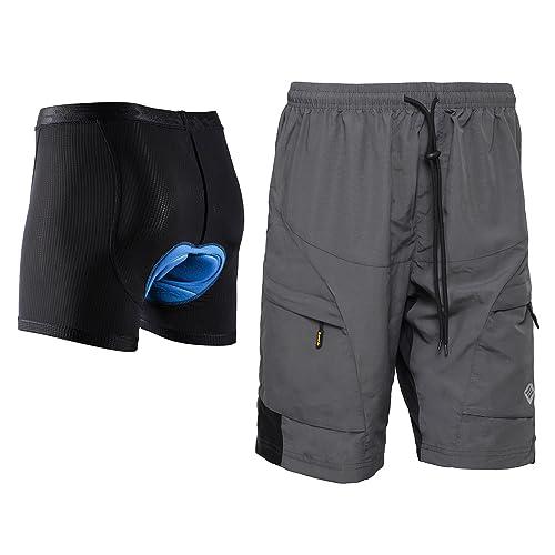 8a9928c7e SANTIC Men s Loose-fit Mountain Bike Shorts Coolmax Lightweight Cycling MTB  Shorts