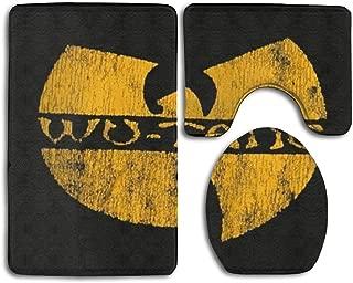 USBFF Wu Tang Clan Bathroom Rug Mats Set 3 Piece Anti-Skid Soft Shower Bath Rugs,Toilet Lid Cover Bath Mat