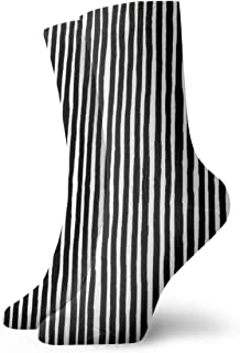 マーカーブラックファッショナブルなカラフルなファンキー柄コットンドレスソックス11.8インチ