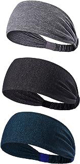 KEREITH 3PACK Women Lightweight Sport Headband No-slip Sweat Band for Men- Stretchy Hair Bands Headwear - Best for Running...