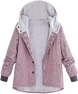 Floral Hooded Coat Plus Size Women Vintage Jacket Outwear Warm Overcoat
